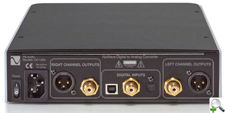 PS Audio NuWave DAC (back)